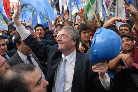 El titular del PJ, Nestor Kirchner