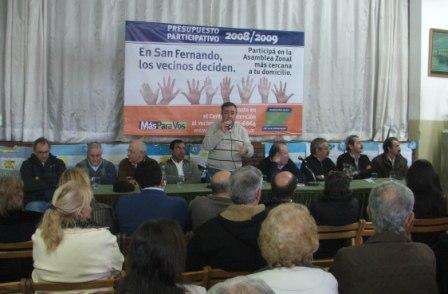 Preparativos para la segunda etapa del presupuesto participativo de San Fernando