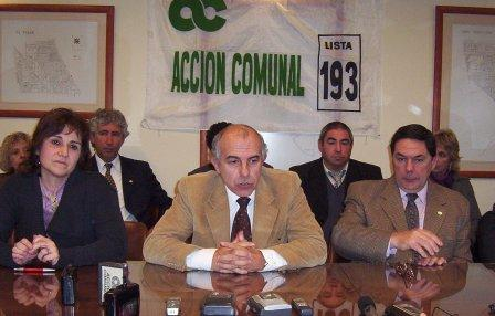 Conferencia de prensa de Acción Comunal