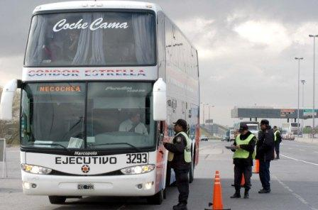 Controlaran más de mil ómnibus por día en Buenos Aires
