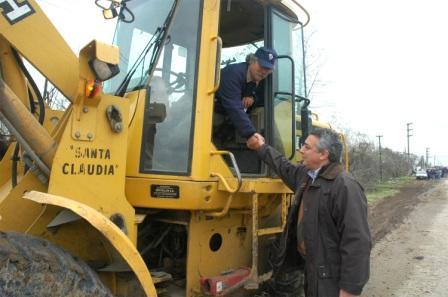 El Intendente Zamora recorrió las obras de Villa La Ñata y Dique Luján