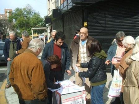 La UCR de San Isidro sigue con su campaña por la movilidad jubilatoria