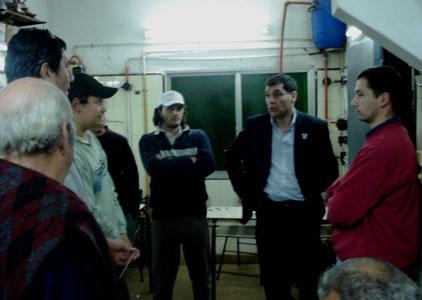 Daniel Gambino visitó el centro de formación laboral nº 401 de Almirante Brown