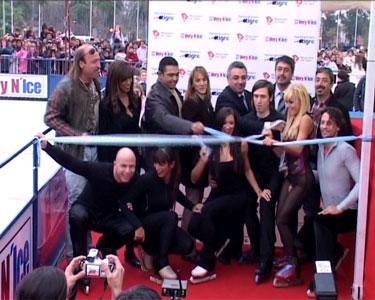 Inauguraron la pista de patinaje sobre hielo en Tigre