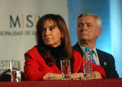 Cristina Fernández junto al Intendente de San Martín