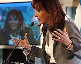 La presidenta Cristina Fernandez de Kirchner