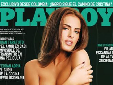 Silvina Luna se desnuda a medias en la Playboy