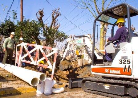 Comienzan las obras de cloacas en San Fernando
