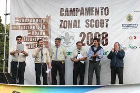 Unos mil quinientos scouts acamparon en San Isidro