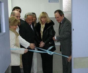 Enrique García Inauguró la nueva Unidad de Terapia Intensiva del Hospital Maternidad Santa Rosa
