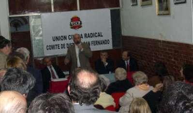 Morales, Sanz y Salvador en la asunción de las nuevas Autoridades de la UCR de San Fernando