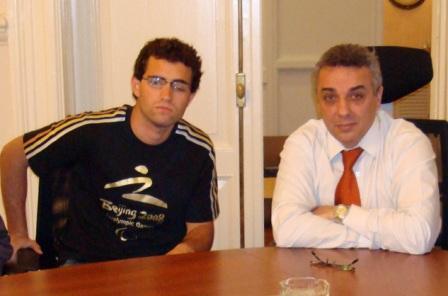 El Intendente de Tigre recibió al deportista paralímpico Federico Rodríguez
