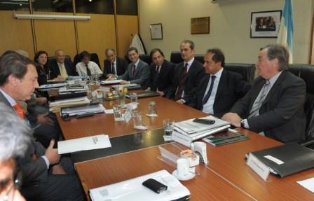 Visita de Scioli al Consejo de la Magistratura