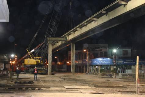 Desmontaron el puente de Boulogne