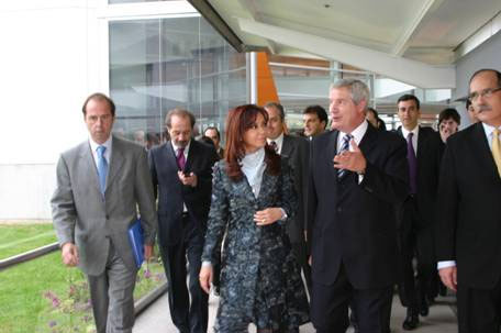 Cristina Fernández participó de la inauguración de un centro informático en Martínez