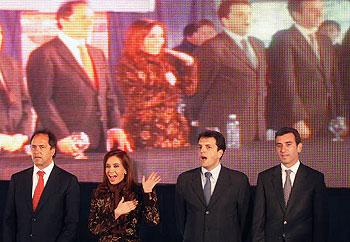 La presidenta Cristina Fernandez de Kirchner participa del acto de inauguración del nuevo Jardín en Benavidez