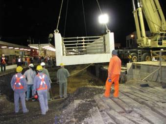 Completaron instalación de puentes ferroviarios y avanza la excavación del túnel de Boulogne