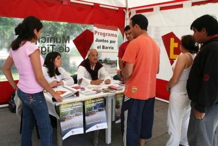 El programa Juntos por el Barrio Usted y el Municipio se realizó en Planta urbana de Tigre