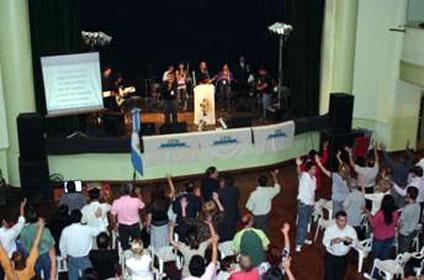 Las Iglesias Evangélicas oraron por San Isidro