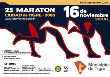 Se larga la 25 Maratón de Tigre