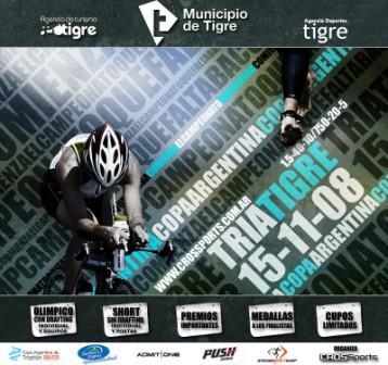 Se corre el Triatlón Copa Argentina Tigre 2008