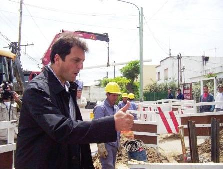 El Jefe de Gabinete Inauguró las obras de cloacas en Rincón de Milberg