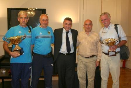 El Intendente Zamora recibió a los Campeones Sudamericanos de Remo