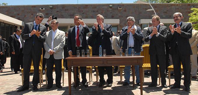 Kirchner cuestionó el acuerdo electoral entre la UCR y la Coalición Cívica