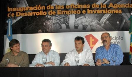 Massa y Tomada coincidieron en la defensa del trabajo ante la crisis internacional
