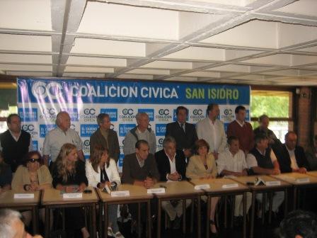 Se presentó oficialmente la Mesa de la Coalición Cívica de San Isidro