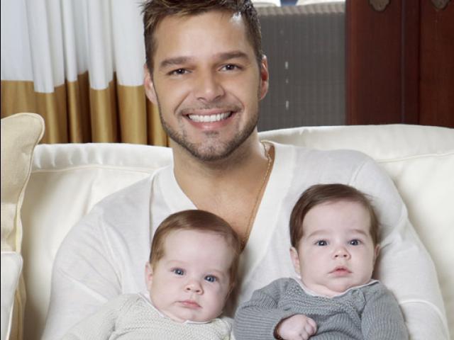 Finalmente Ricky Martin mostró a sus hijos