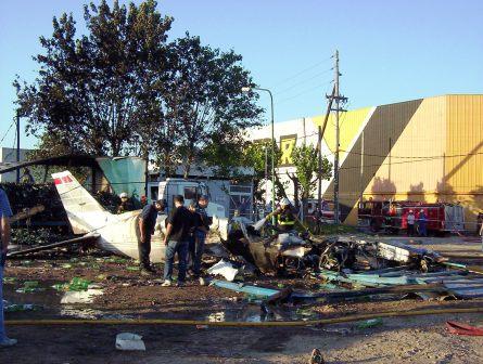Cayó una avioneta en Tigre