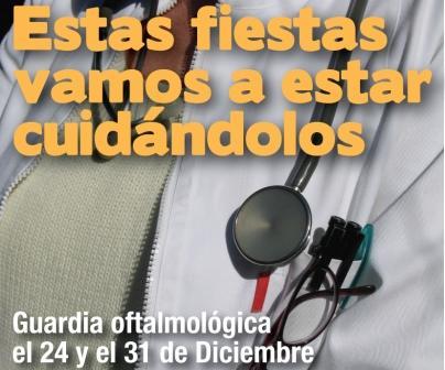 Guardia especial oftalmológica los días 24 y 31 de diciembre
