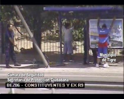 Las c�maras de seguridad del municipio de Tigre impidieron el robo a mano armada en la v�a publica