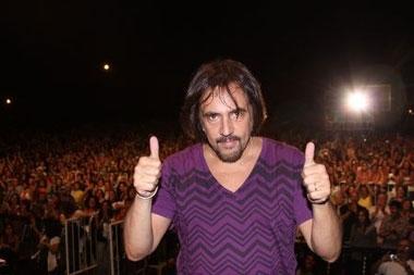 Alejandro Lerner cantó en Vicente López