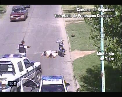 Las cámaras de seguridad de Tigre coordinaron la persecución de una moto