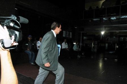 Eduardo Héctor Sofia al ingresar esta mañana en los tribunales de San Isidro