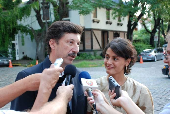 El intendente Gustavo Posse en diálogo con el periodismo