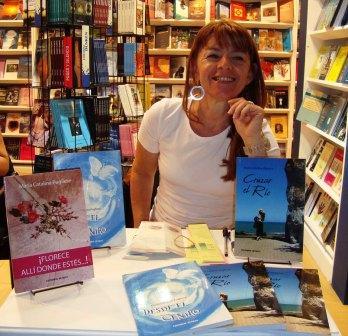 María Catalina Pugliese, una escritora de Benavídez firmó ejemplares en la Feria del Libro