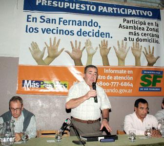 Nueva asamblea vecinal del presupuesto participativo en San Fernando.