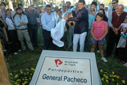 Con una multitudinaria fiesta se inauguró el Polideportivo de General Pacheco