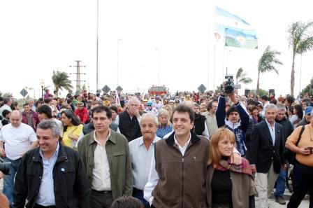 Sergio Massa inauguró la nueva rotonda de acceso a Tigre