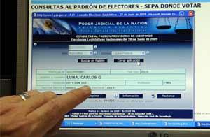 Ya se puede consultar en Internet d�nde votar para la elecci�n del 28 de junio