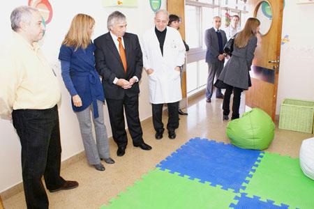 Visita al nuevo servicio de internación pediátrica del Hospital de Tigre.