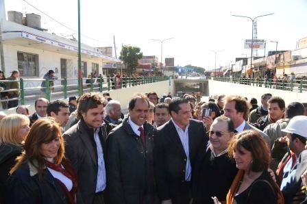 En San Isidro recorrió las obras del cruce Bajo Nivel de Boulogne y licitó las obras de agua potable y desagües cloacales