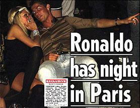 El festejo de Cristiano Ronaldo con Paris Hilton