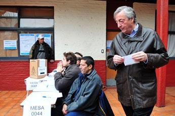 Néstor Kirchner votó en Vicente López
