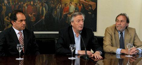 Néstor Kirchner renunció a la presidencia del PJ