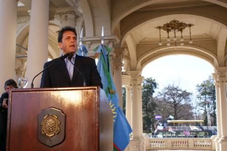 Sergio Massa en su rasunción como Intendente de Tigre