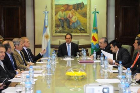 Los dirigentes de Unión Pro salieron conformes de la reunión con Scioli